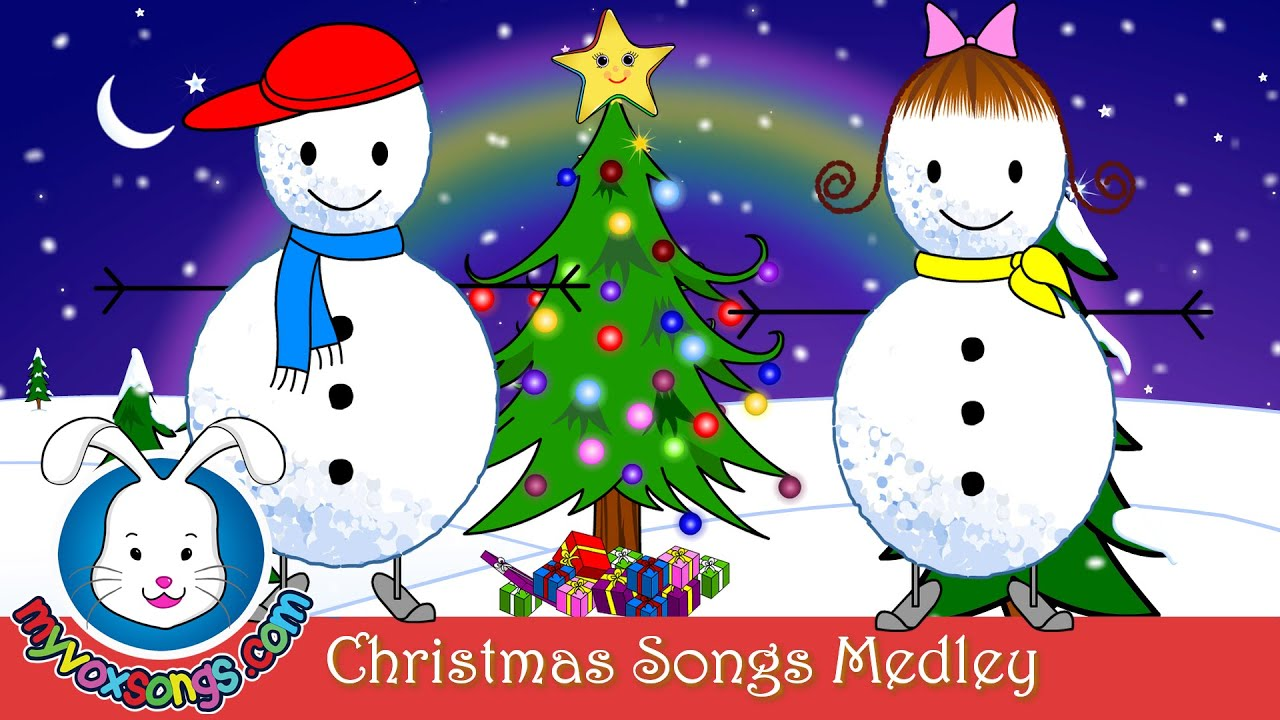 Christmas Songs for Kids with Lyrics | Xmas Medley - YouTube