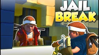 POLICE STATION JAILBREAK! - Scrap Mechanic Multiplayer Gameplay - Cops & Robbers Challenge