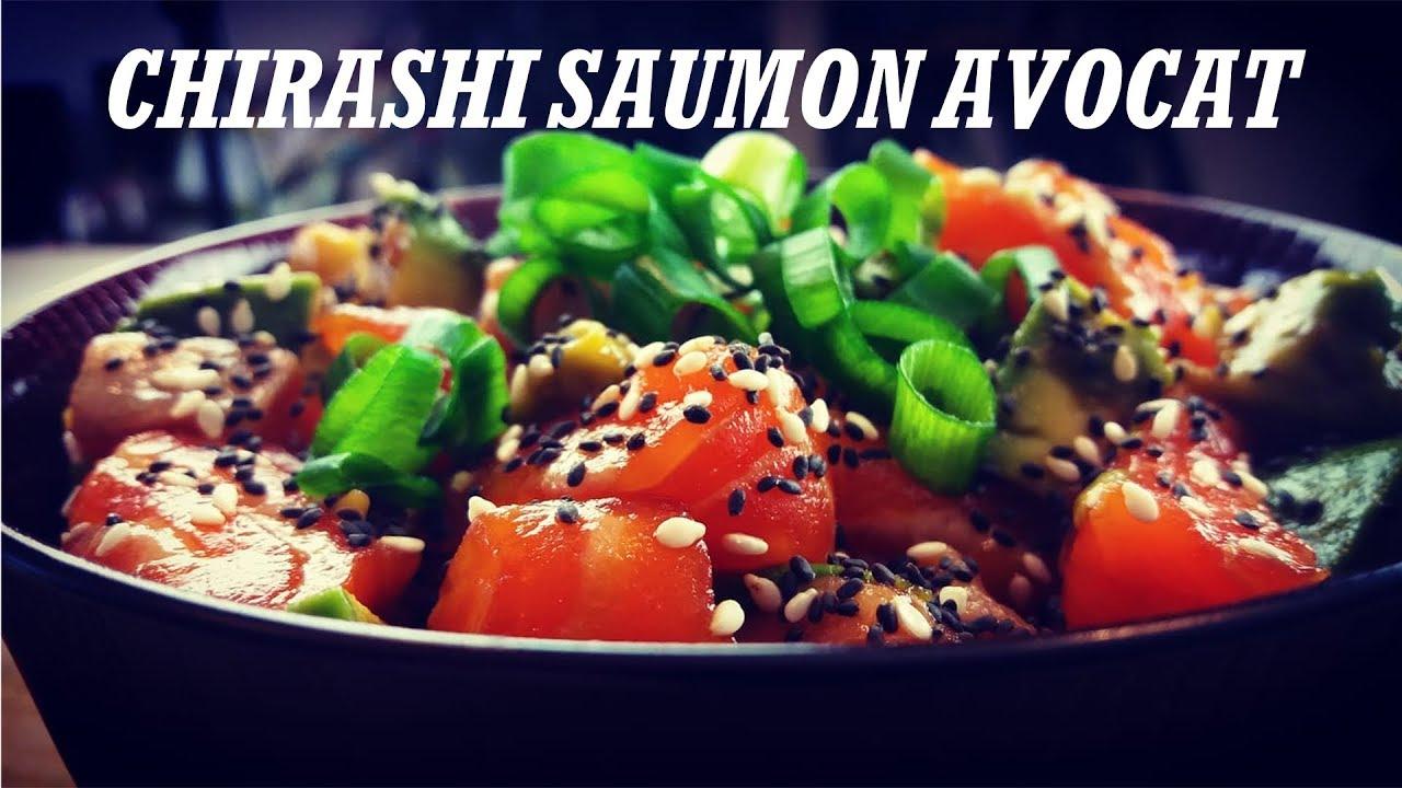 Recette Japonaise Chirashi Saumon Avovat Oishi San Youtube