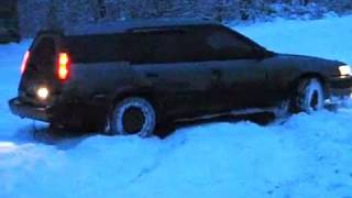 toyota sprinter carib AE95 in snow
