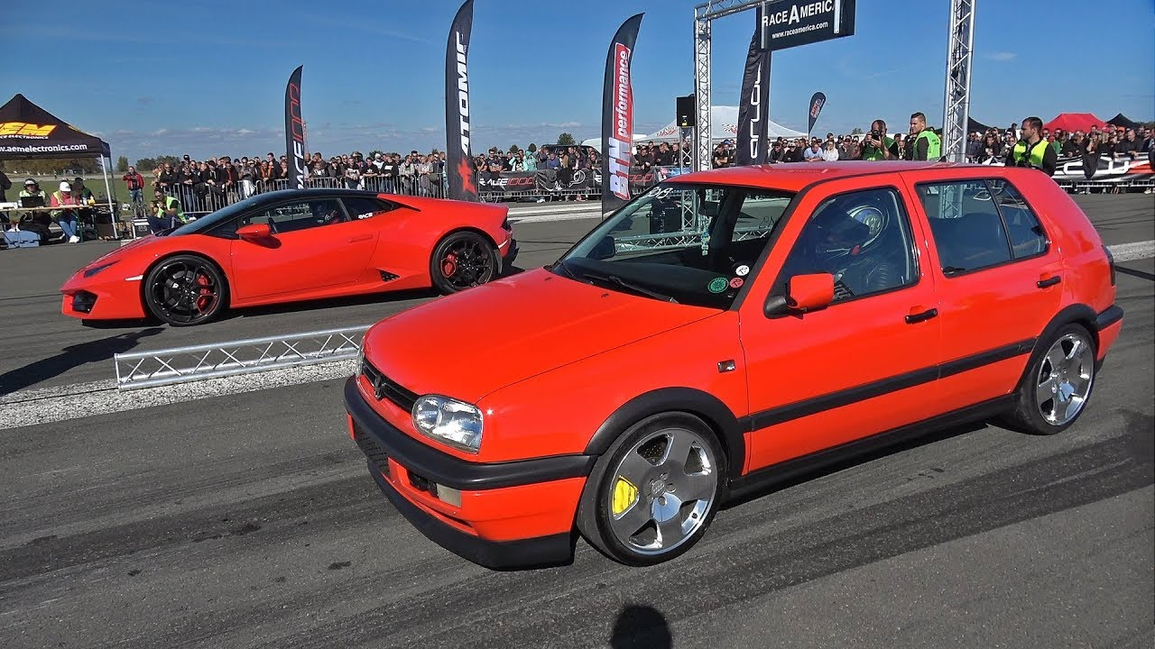 815db19ccf Lamborghini Huracan LP580 vs Volkswagen Golf 3 vs Golf 4 1.8T - YouTube