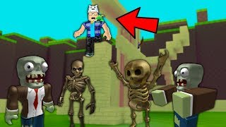 ROBLOX: BUILD THE CASTLE AND DON'T LET THE MONSTERS INVADE!! -Play Old man
