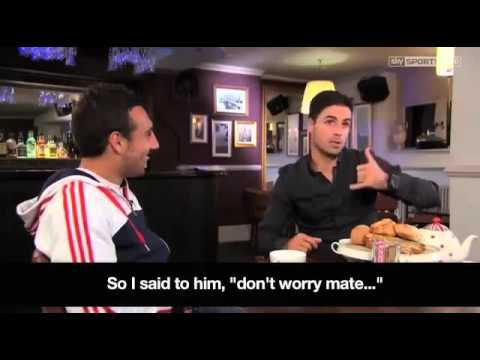 Cazorla and Arteta mock Man City and Wenger in Spanish interview