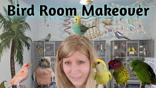My Birds Room had a Makeover | Bird Room Makeover | Pet Room Makeover