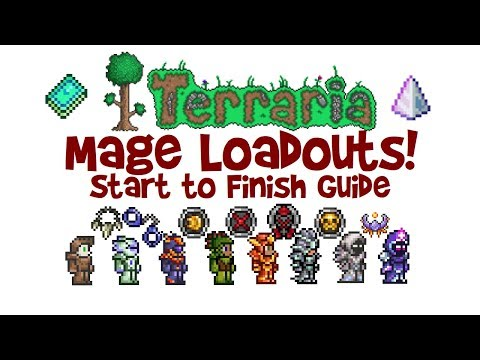 Terraria Mage Loadout Guide Magic Class Build Armor Weapons