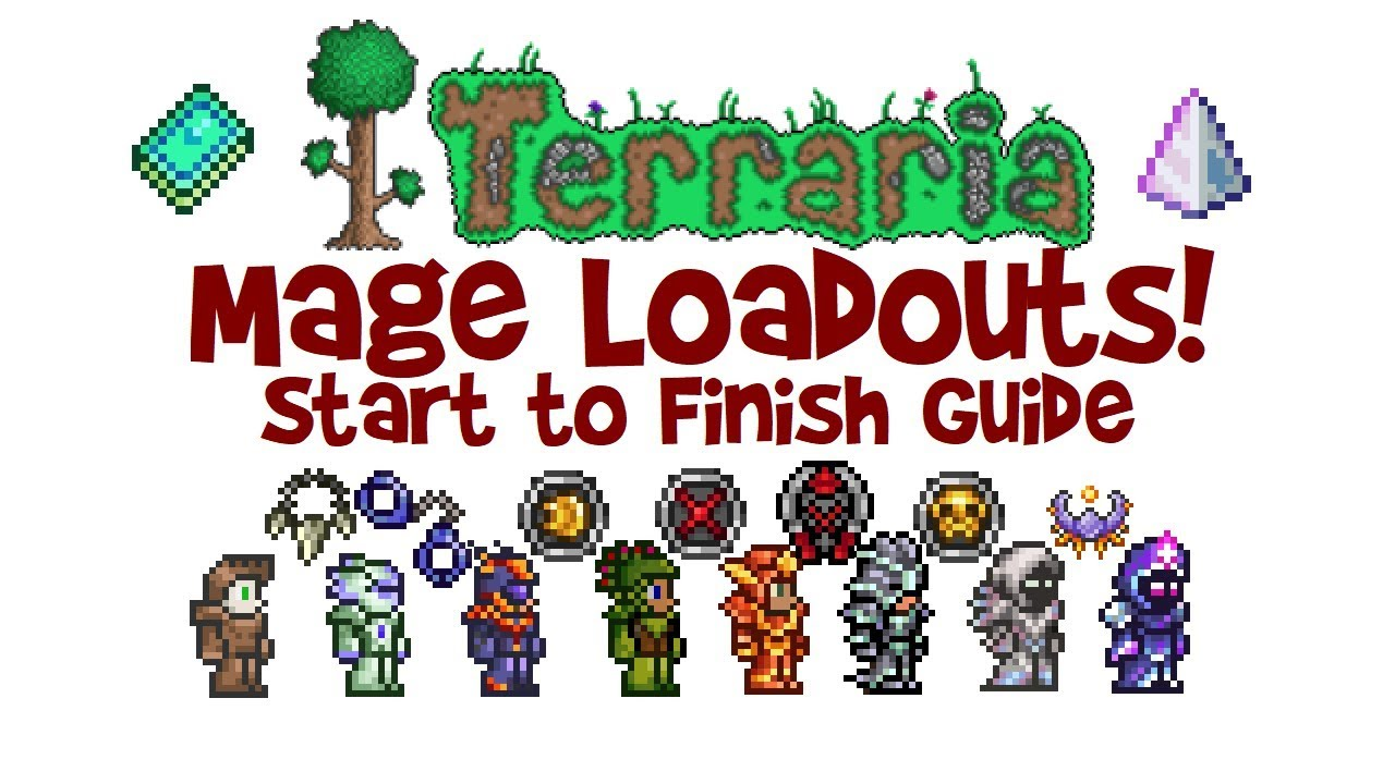 Terraria Mage Loadout Guide (Magic Class Build: Armor, Weapons &  Accessories 1 3 & 1 2 4)