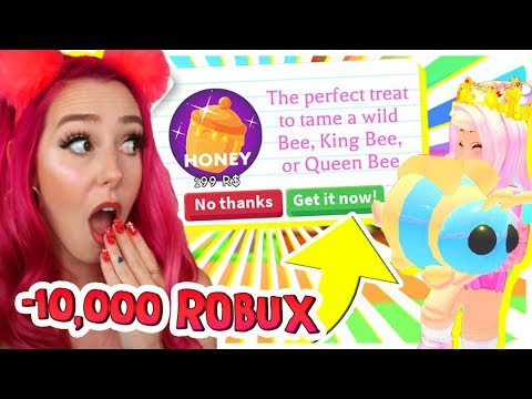 Spending 10,000 Robux on BEES to Get QUEEN BEE in Adopt Me! Adopt Me Update Roblox Challenge