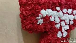 Цветы из салфеток!Объемная цифра на день рождения за 100 р