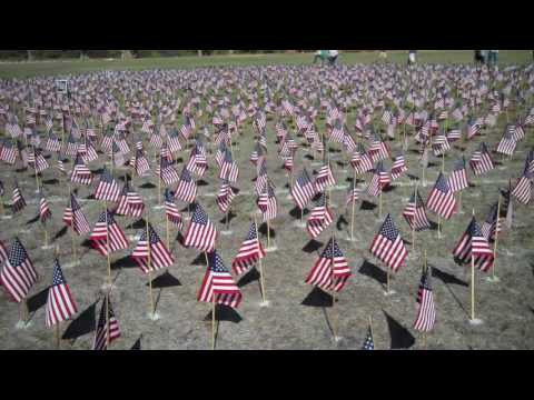 911 flags at Villanova Preparatory School