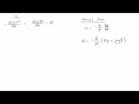 Darcy's law and Formation Volume Factor