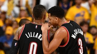 Damian lillard, cj mccollum combine for 75 in game 1