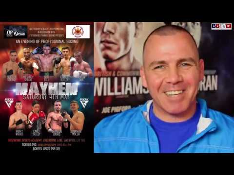 MAYHEM! LIVERPOOL PRO-BOXING SHOW MAY 4th   MEET THE BOXERS