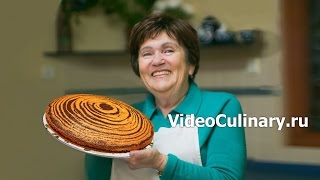 Пирог Зебра   Рецепт Бабушки Эммы