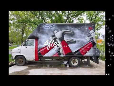 Pink Floyd Graffiti Timelapse On A Cube Truck By Def3