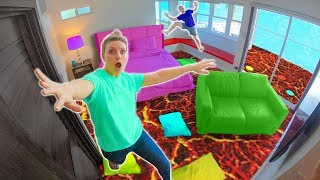 FLOOR is LAVA in HOTEL!! (SIS vs BRO Challenge)