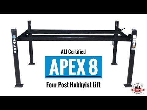 Atlas® APEX 8 - ALI Certified, Hobbyist 4 Post Lift