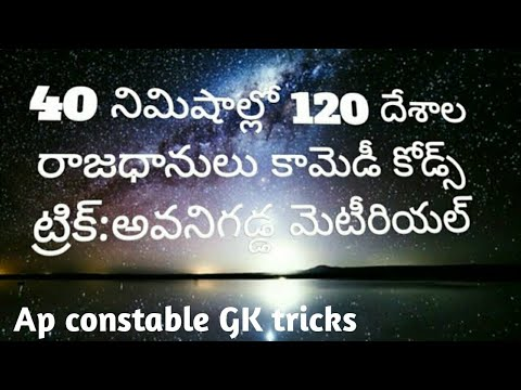 120 countries capital's learn with in 40 minutes|avanigadda material|telugu|2018 dsc