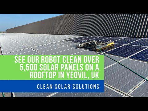 Robot Solar Panel Cleaning 1.3MW Rooftop Yeovil UK