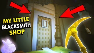WHAT IS INSIDE THE SECRET MINE? (My Little Blacksmith Shop Funny Gameplay)