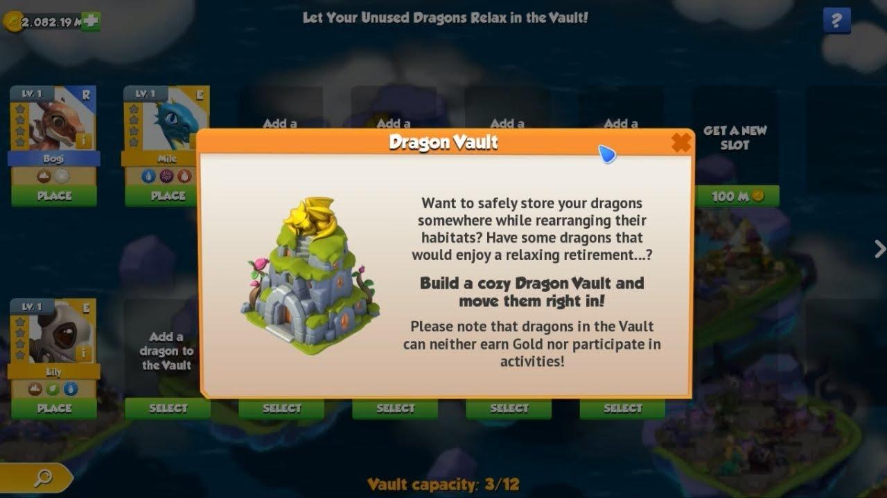 gold vault dragon mania legends