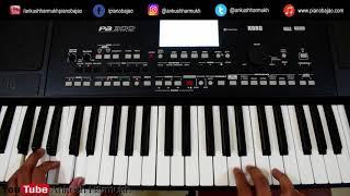 Sanu Ek Pal Chain ( Hindi Piano Cover + Chord ) Tutorial | Raid | Pianobajao
