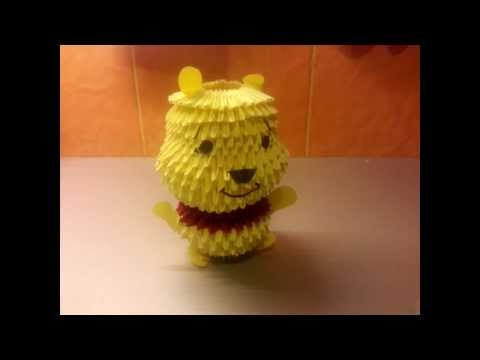 3d origami teddy bear instructions