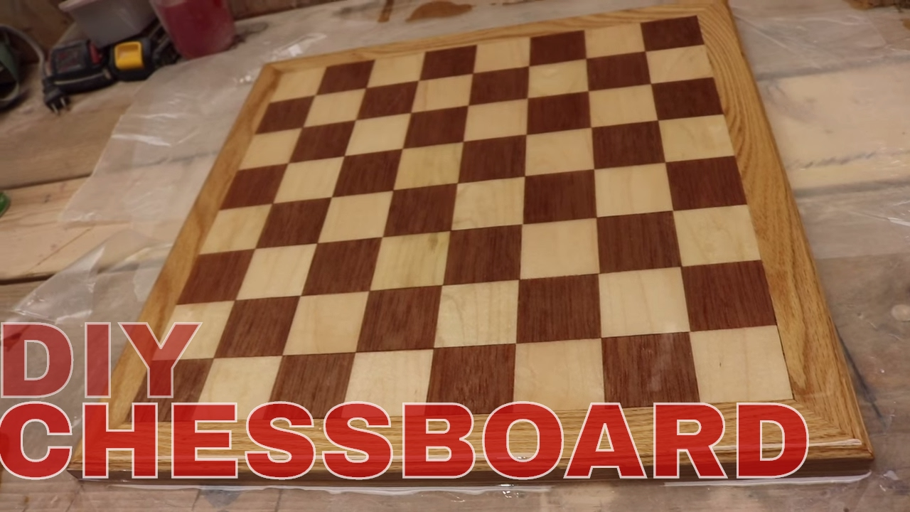 diy chess board youtube. Black Bedroom Furniture Sets. Home Design Ideas