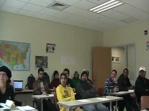 ESL, SHU, Fairfield, CT - Costa Rica Connection: Skype Conference between the ESL students, part 1