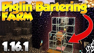 Minecraft Piglin Bartering Farm Trade Gold 1.16 Tutorial EASY! (2020)