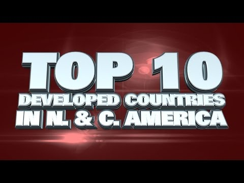 10 Most Developed Countries in North & Central America 2014