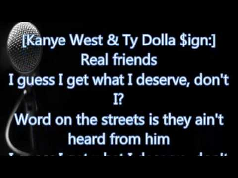 Kanye West - Real Friends (Lyrics)