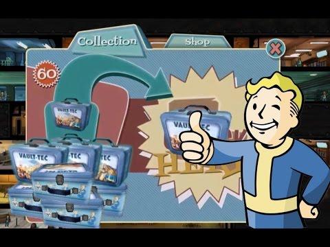 Fallout Shelter открываем 61 ланч-бокс