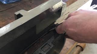 Handscraping a Lathe Compound Dovetail Way