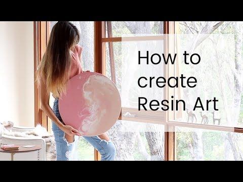 How I Make Resin Art- Using liquid Acrylic paint