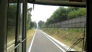 2010.8.30鹿島鉄道鉾田線廃線跡バス専用道前面展望 石岡→小川
