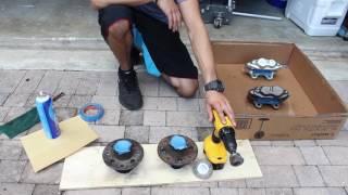 Brake caliper and hub - prep and paint