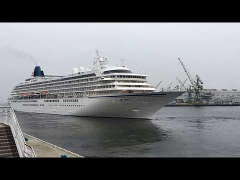 Time-lapse video of Asuka 2 cruiseship leaves Kobe Port
