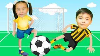 Дети играют футбол | Bonny Kids