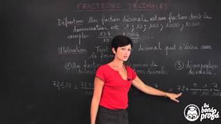 Fractions décimales - Écritures fractionnaires - Maths 6e - Les Bons Profs