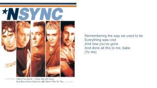 N'Sync: 13. Giddy Up (Lyrics)
