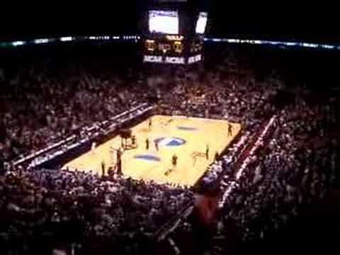 2007 NCAA East Regional Final - Georgetown ties the game!