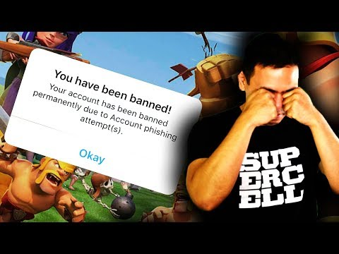 I GOT BANNED from Clash of Clans (not clickbait)