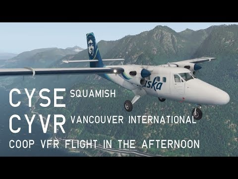 XP11 TwinOtter Co-op Flight, CYSE Squamish to CYVR Vancouver International