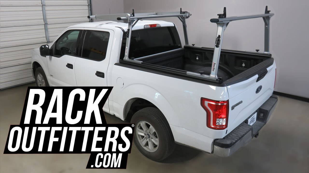 Ford F150 Rack >> Ford F150 SuperCrew Cab with TracRac SR Truck Bed Rack with Cantilever Extension - YouTube