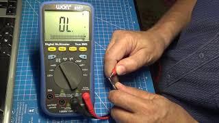 OWON B35 continuity beeper / тест звуковой прозвонки