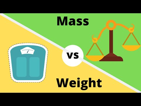 Isnt weight and mass the same?