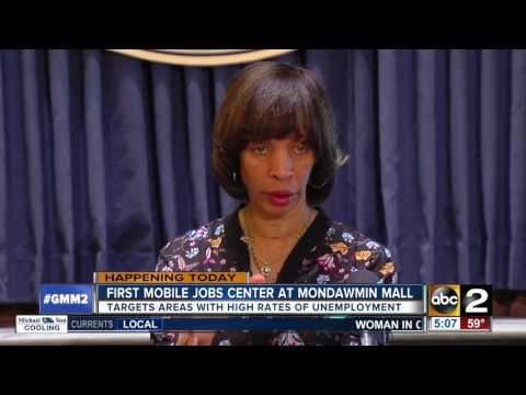 Mobile job center opens at Mondawmin Mall in Baltimore