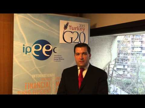 Santiago Creuheras IPEEC's Po-Co Chair presents the G20-IPEEC Task Group on Finance