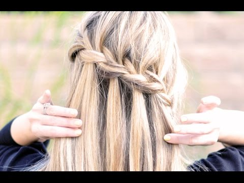 Tutorial: Waterfall Braid Partial French Braid with Cascading Hair