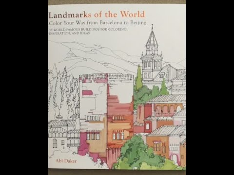 Landmarks of the World: Color Your Way from Barcelona to Beijing flip through